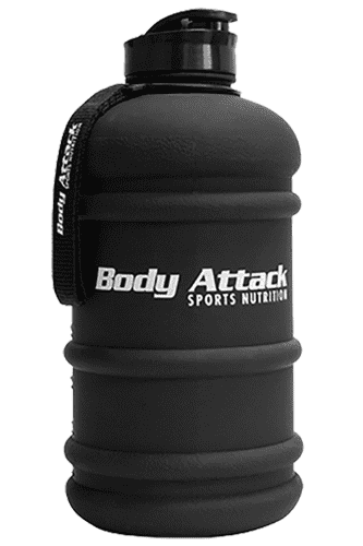 Body Attack Sports Nutrition Water Bottle XXL frosted black - 2,2 Liter