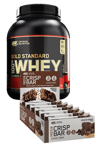 Optimum Nutrition 100% Whey Protein 2270g + 10 Optimum Crisp Bar 65g