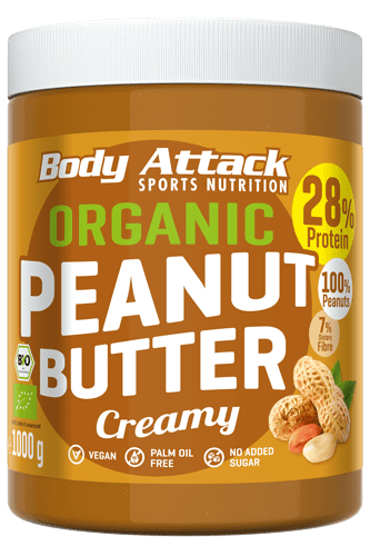 Body Attack Organic Peanut Butter - 1000g