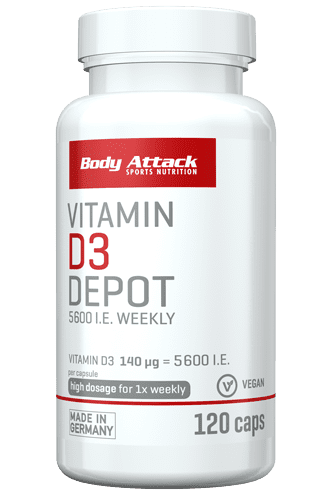 Body Attack Vitamin D3 Depot - 120 Caps